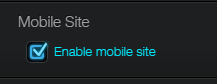 Enable mobile site